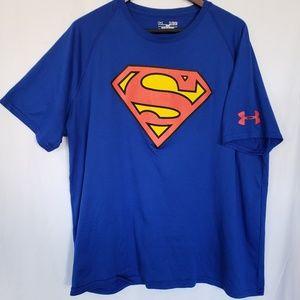 Under Armour superman Super Hero t shirt xl